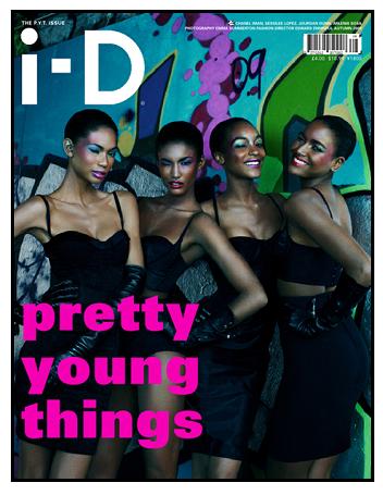 Chanel Iman, Sessilee Lopez, Arlenis Sosa, and Jourdan Dunn for ID!