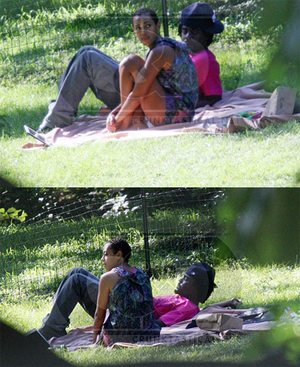 Solange and Wale at Central Park