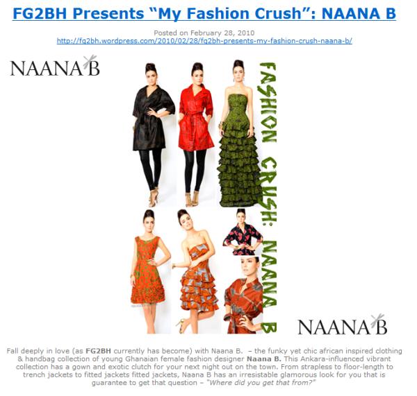 FG2BH Presents My Fashion Crush: Naana B
