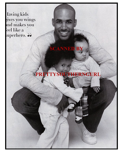 BORIS KODJOE WITH HIS CHILDREN SOPHIE + NICOLAS