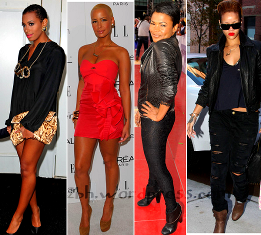 short-bald-hair-style-solange-amber-rose-nia-long-rihanna